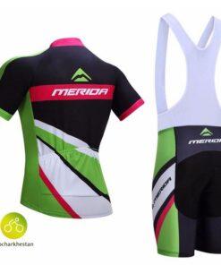لباس دوچرخه سواری مریدا همراه با ساق دست و پا