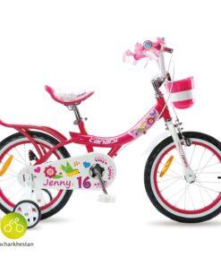 دوچرخه بچه گانه قناری مدل جنی رنگ صورتی