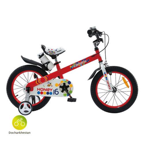 دوچرخه بچه گانه قناری مدل هانی رنگ قرمز
