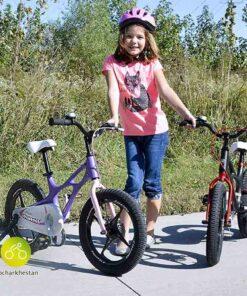 دوچرخه بچه گانه قناری مدل شاتل فضایی رنگ صورتی و مشکی