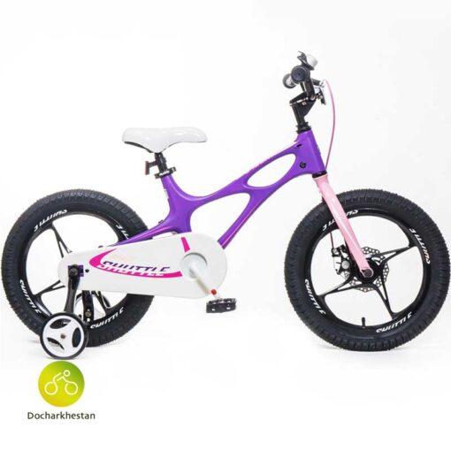 دوچرخه بچه گانه قناری مدل شاتل فضایی رنگ صورتی