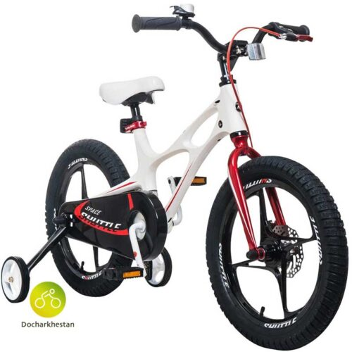 دوچرخه بچه گانه قناری مدل شاتل فضایی رنگ سفید