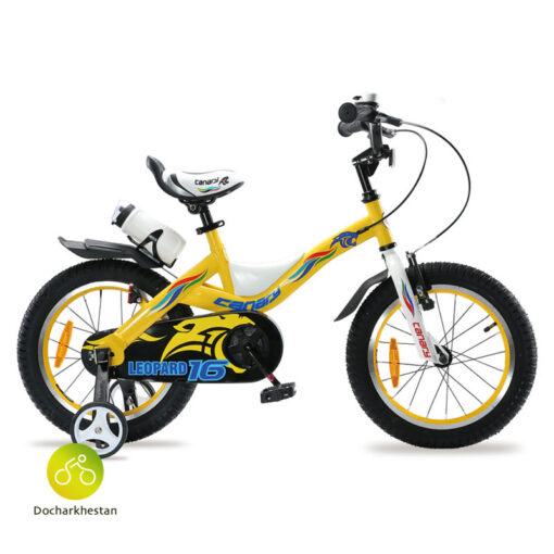 دوچرخه بچه گانه قناری مدل لئوپارد رنگ زرد