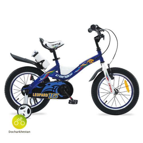 دوچرخه بچه گانه قناری مدل لئوپارد رنگ آبی