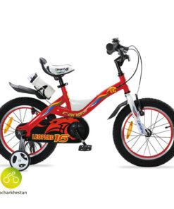 دوچرخه بچه گانه قناری مدل لئوپارد رنگ نارنجی