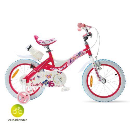 دوچرخه بچه گانه قناری مدل کندی رنگ صورتی