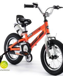 دوچرخه بچه گانه قناری مدل فضایی رنگ نارنجی