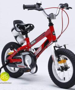 دوچرخه بچه گانه قناری مدل فضایی رنگ قرمز