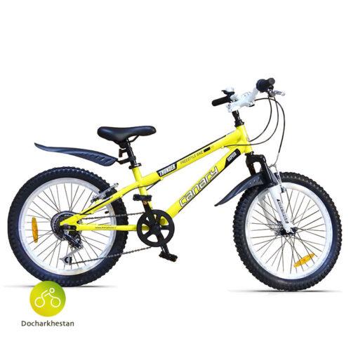 دوچرخه بچه گانه قناری مدل فری استایل تاندر رنگ زرد