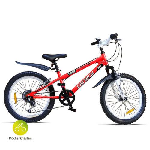 دوچرخه بچه گانه قناری مدل فری استایل تاندر رنگ قرمز