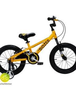 دوچرخه بچه گانه قناری مدل بولدوزر رنگ زرد