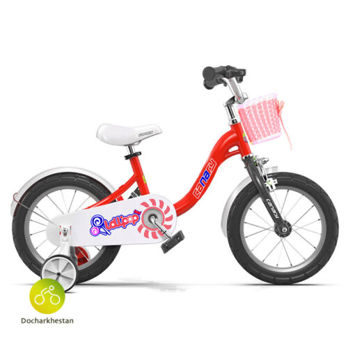 دوچرخه بچه گانه قناری مدل لالی پاپ رنگ قرمز