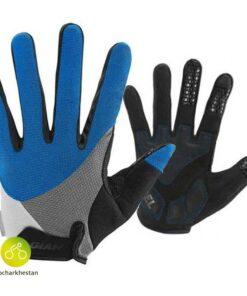 دستکش دوچرخه سواری جاینت مدل استرک رنگ آبی