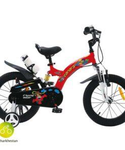 دوچرخه بچه گانه قناری مدل فلاین بر رنگ قرمز